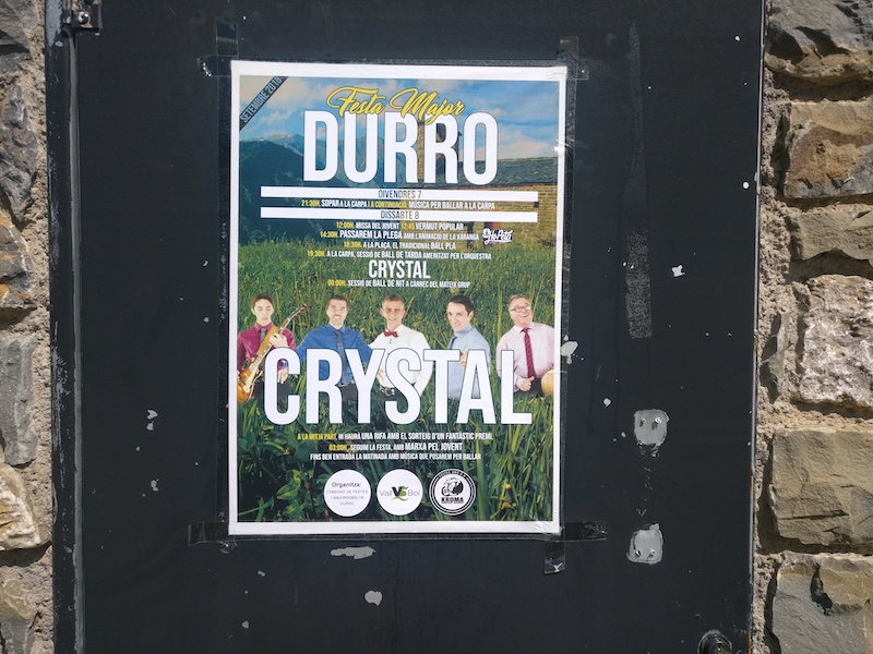 Poster advertising Crystal Durro