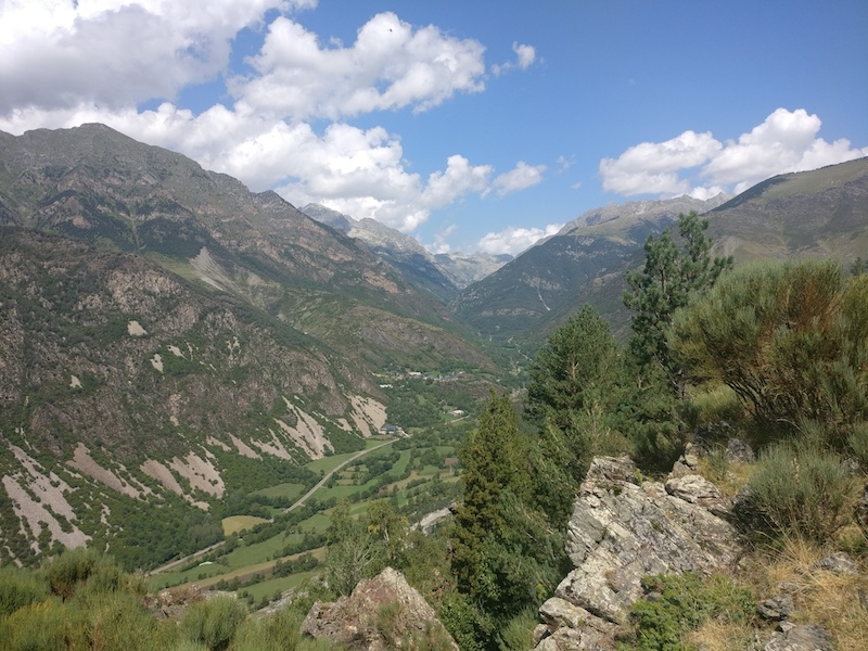 View over Vall de Boí from the path between Durro and Boí