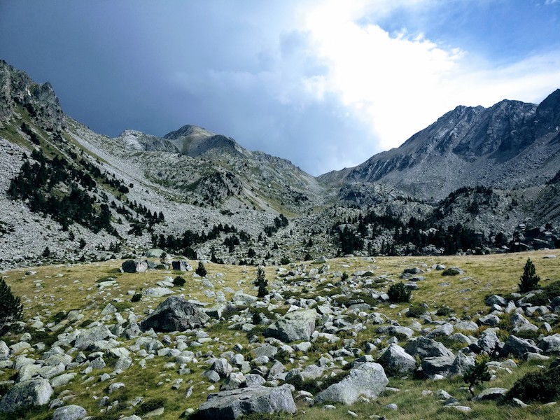 The valley of Estany Dellui in the Aigüestortes i Estany de Sant Maurici National Park